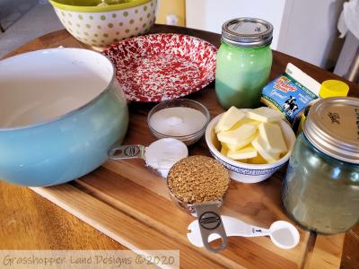 Sugar Cream Pie Ingredients